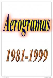 Portada del álbum de Aerogramas españoles 1981-1999